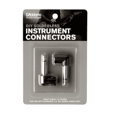 """D'Addario PW-GRAP-2 Planet Waves  1/4"""" Right-Angle DIY Custom Cable Kit Plugs"""