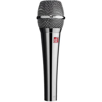 SE Electronics Dynamic Handheld Mic Chrome Supercardioid, V7-CHROME-U