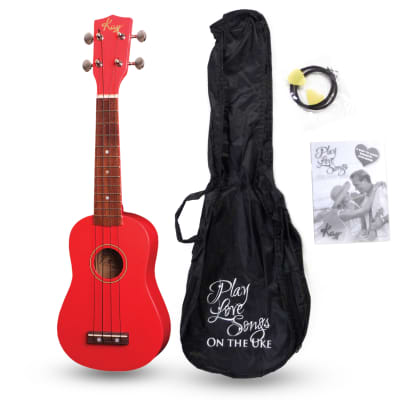 Kay U12PRC Red Cabernet Soprano Ukulele Package (Free Shipping) for sale