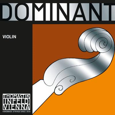 Thomastik-Infeld 130MS 1/2 Dominant Aluminum Wound Carbon Steel Core Loop End 1/2 Violin String - E (Medium)