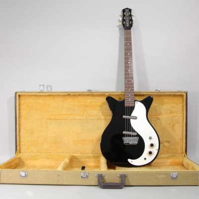 1990s Danelectro DC 59 Black Finish Electric Guitar w/OHSC for sale