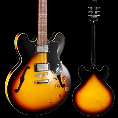 Epiphone ETDTVSCH1 Dot Vintage Sunburst Chrome Hardware 558 8lbs 4.4oz for sale