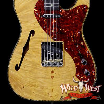 Fender Custom Shop Artisan Maple Burl Thinline Telecaster Roasted Birdseye Maple Neck African Blackwood Fretboard for sale