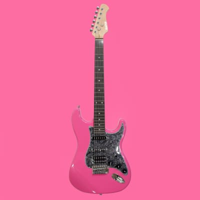 Quincy London Electric Guitar S-type shape U.K.  Sparkle Pink Bargain Deal of the Day