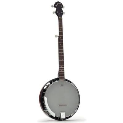 Ozark 5 String Banjo Left Handed and Padded Cover for sale