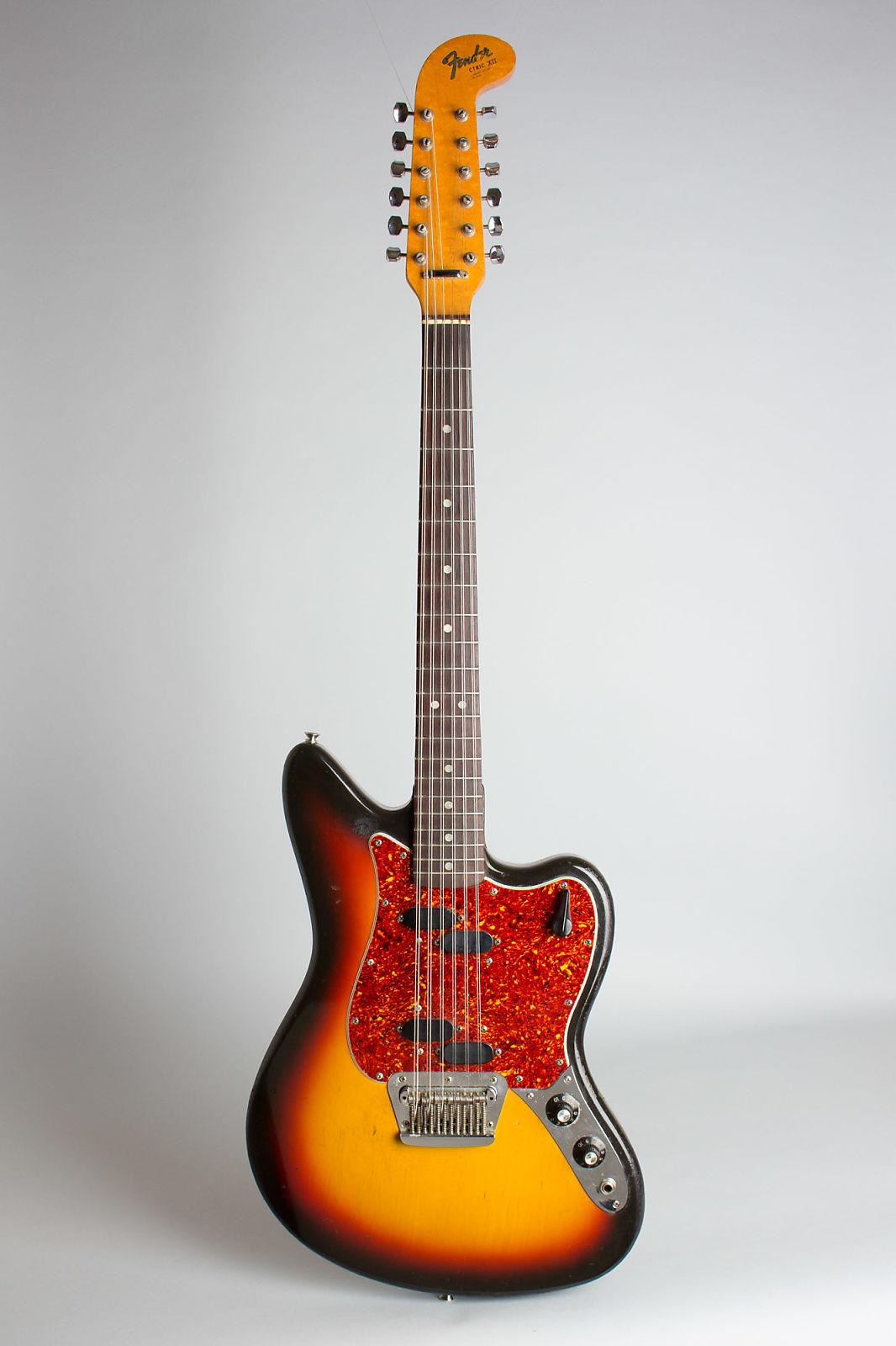 fender electric xii 12 string solid body electric guitar 1966 ser 129528 hard shell case. Black Bedroom Furniture Sets. Home Design Ideas