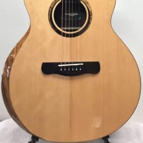 "Merida 41"" solid spruce and mahogany ""Cupid"" cutaway  Acoustic-Electric Guitar with beveled arm rest, eq"