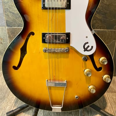 Rare Stunning Short Scale 2004 Epiphone Elitist Riviera 12-String in Nude Sunburst w/OHSC (0316) for sale