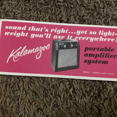 Kalamazoo Model 1 and Model 2 Amp Brochure