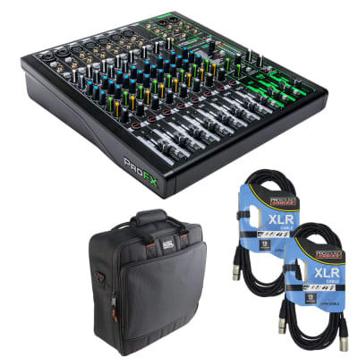 Mackie ProFX12v3 12-Channel Sound Reinforcement Mixer with Built-In FX +Gator Cases G-MIXERBAG-1515