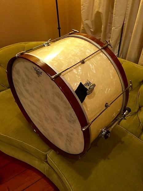 w f l ludwig 14x26 vintage bass drum 1930s 1950s white reverb. Black Bedroom Furniture Sets. Home Design Ideas