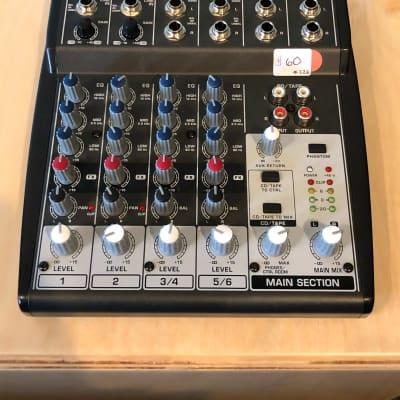 Behringer 802 Mic Preamp 8-Input 2-Bus Mixer XENYX EQ