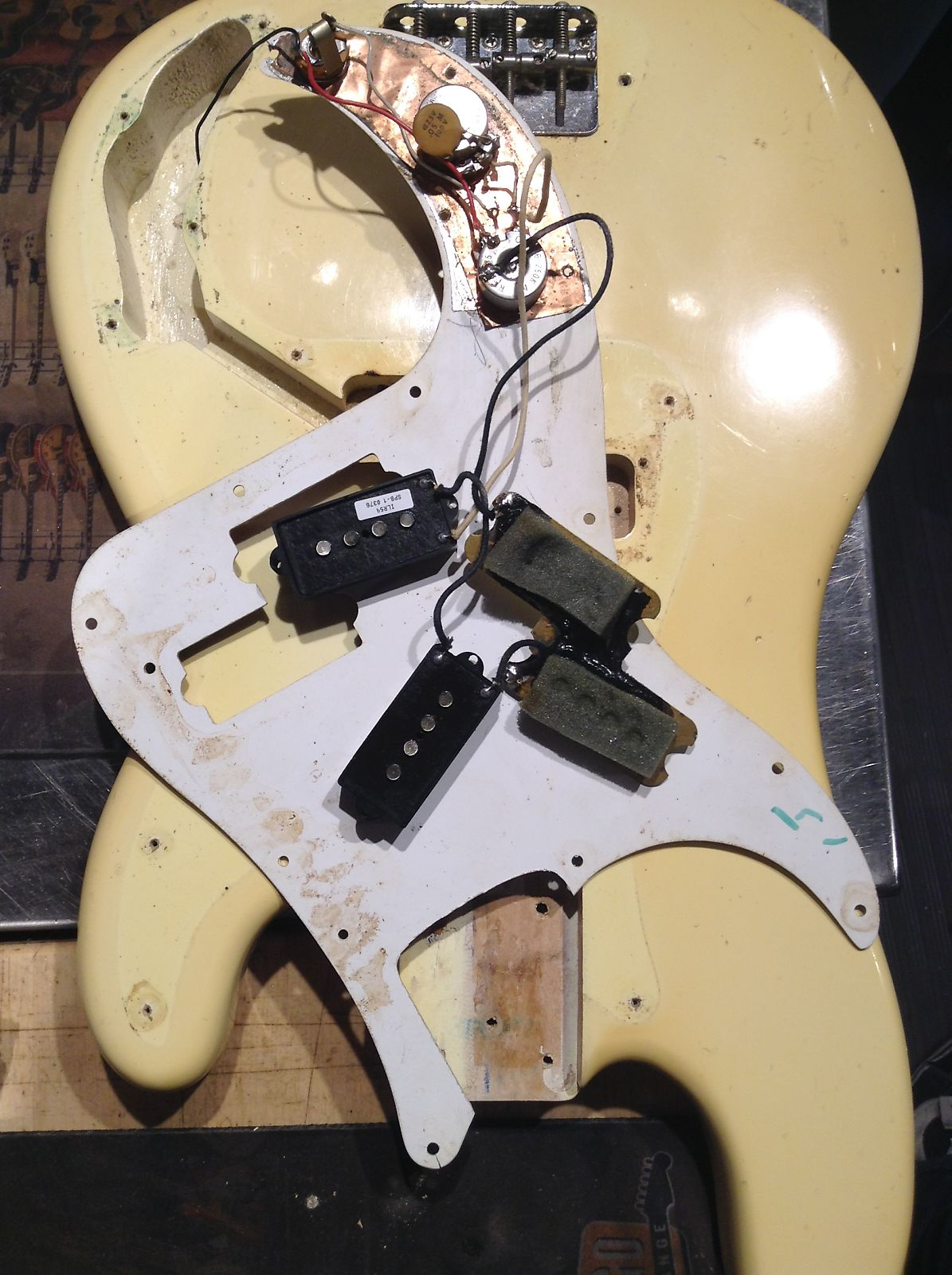 Fender Precision Bass Olympic White 1975 S698 P Wiring 2695