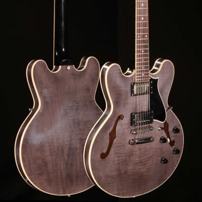 Heritage H-535 Hollowbody Black Translucent w/Hardshell Case for sale