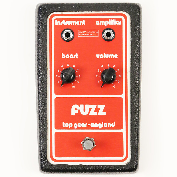 1978 top gear fuzz pedal rare top gear of england fuzz reverb. Black Bedroom Furniture Sets. Home Design Ideas