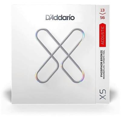 D'Addario XS Phosphor Bronze Coated Acoustic Guitar Strings - Medium 13-56