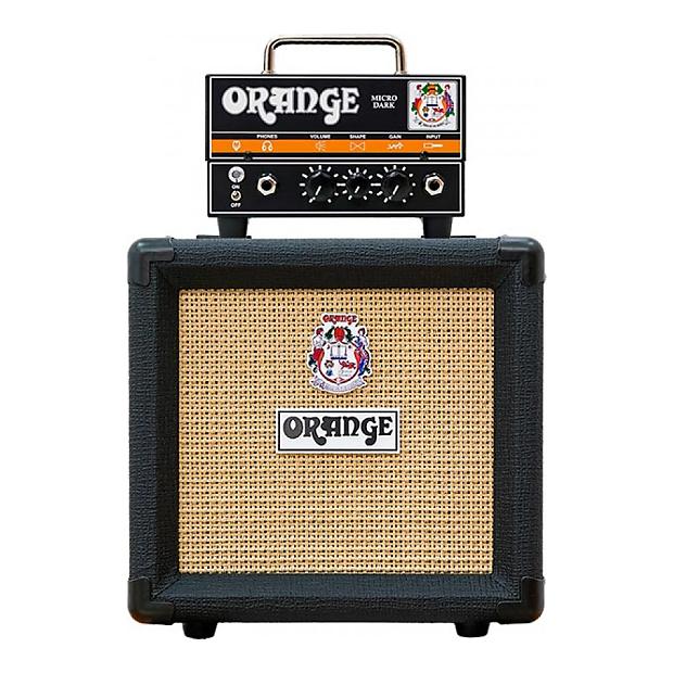 Orange Micro Dark Valve Hybrid Guitar Amp Head & PPC108-BK Speaker Cab