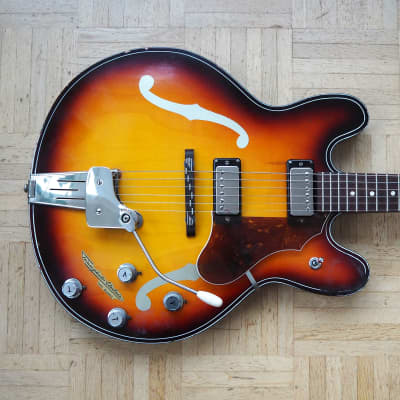 Klira Triumphator ES-335 style thinline semi-acoustic guitar ~1968 made in Germany - like Hofner for sale