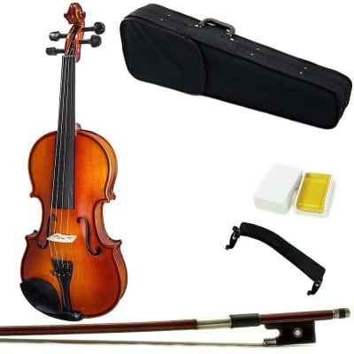 "Sky Music Student 15"" Viola with Case Brazilwood Bow, Shoulder Rest and Rosin"