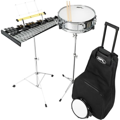 Sound Percussion Labs Snare and Bell Kit with Rolling Bag Regular 14 x 4 in.