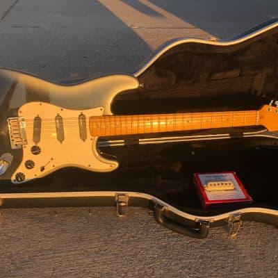 Fender USA American Strat Stratocaster Plus Black Pearl Dust w/ Hard Shell Case
