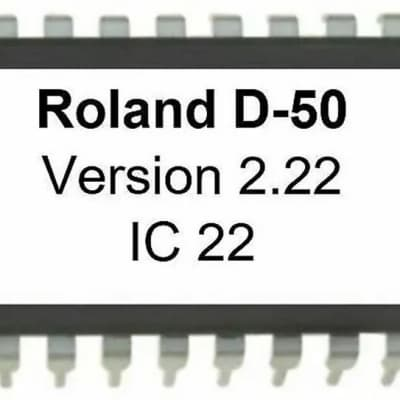 ROLAND D-50 OS FIRMWARE UPDATE UPGRADE 2.22 ( Later version ) D50 Eprom