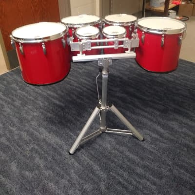 """Pearl PMTM660234 Championship Maple 6 / 6 / 10 / 12 / 13 / 14"""" Sonic Cut Sextets Marching Tenor Set"""