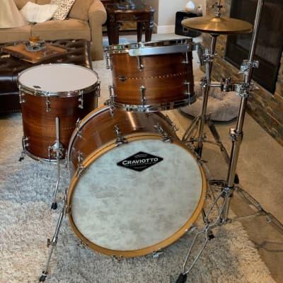 Craviotto Drum Set (13,16,22) 2009 Walnut 3 Piece