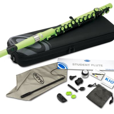 Nuvo SE200FPK Student Flute Kit with Straight Head, C-Foot, Case, Accessories 2010s Green