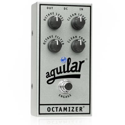 Aguilar 25th Silver Anniversary Octamizer Analog Octave Bass Effects Pedal for sale