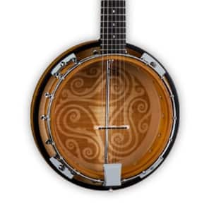 Luna Folk Series Celtic Six-String Banjo, BGB CEL 6 for sale