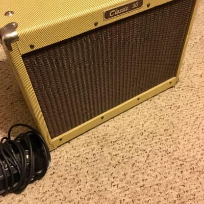 """Vintage USA Peavey Classic 30 tube amp 1990 w/ UK Celestion Greenback 16 ohm 12"""" & footswitch"""