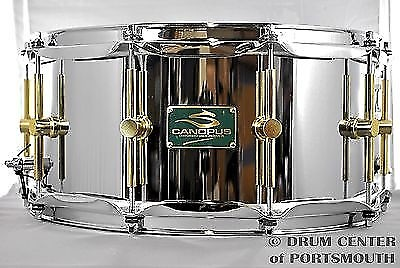 canopus 39 the steel 39 snare drum 14x6 5 w flanged hoops second reverb. Black Bedroom Furniture Sets. Home Design Ideas