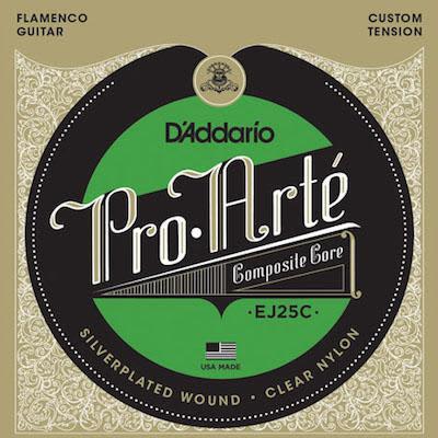 D'addario Pro Arte Classical Guitar Strings EJ25C Composite Flamenco/Clear/Normal for sale