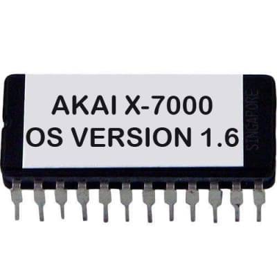 Akai X-7000 Latest OS Version 1.6 Eprom Firmware Update Upgrade