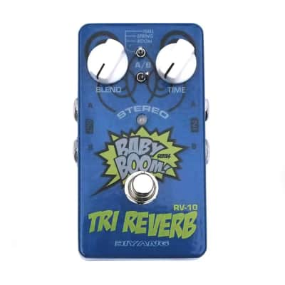 Biyang RV-10 Tri Reverb Guitar Effect Pedal 3 Reverb Modes True Bypass