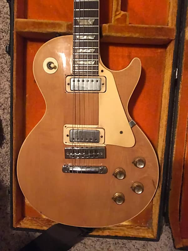 Gibson Les Paul Deluxe 1971 Natural Wood Reverb