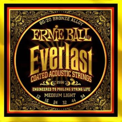 Ernie Ball 2556 Everlast Acoustic Guitar Strings 80/20 Bronze Medium Light 12-54