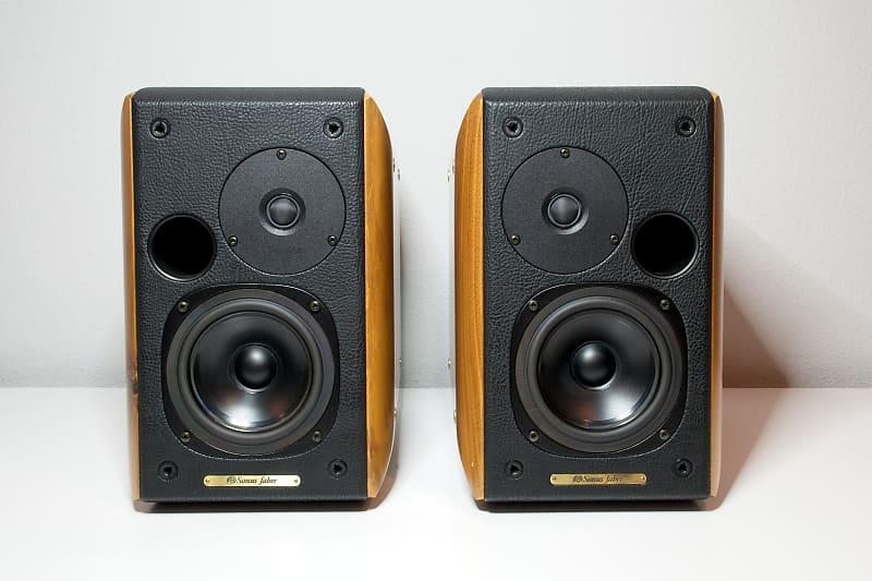 Sonus Faber Concertino Walnut Speakers   Koby's Music Stuff