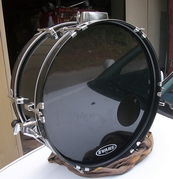 pearl rhythm traveler bass drum black 8x20 with 2 new reverb. Black Bedroom Furniture Sets. Home Design Ideas