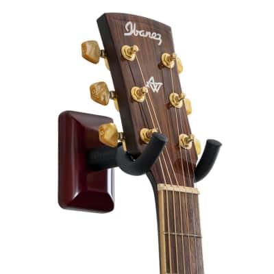 Gator Frameworks Wall Mount Guitar Hanger Cherry