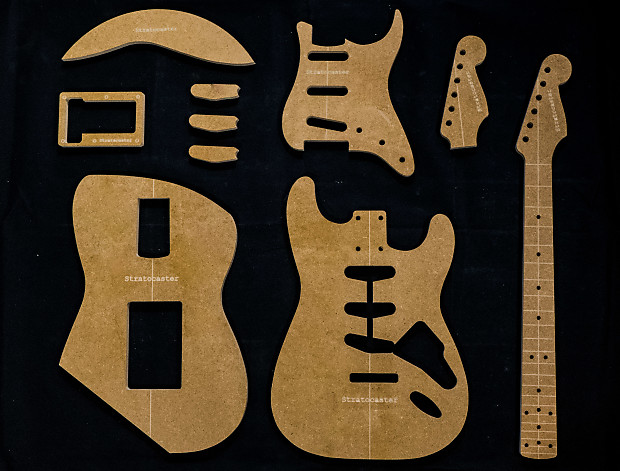 Guitar templates stratocaster poly coated 12 mdf reverb guitar templates stratocaster poly coated 12 mdf cnc router set w neck maxwellsz