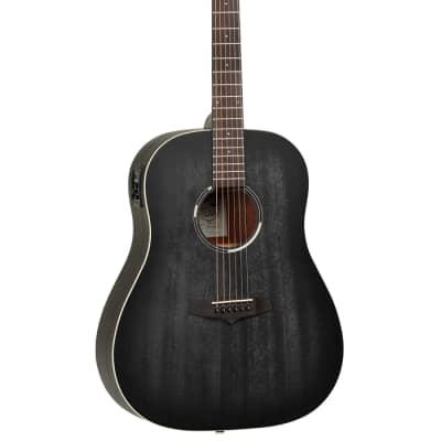 Tanglewood TWBB SD E Blackbird Dreadnought Acoustic/Electric Smokestack Black Satin