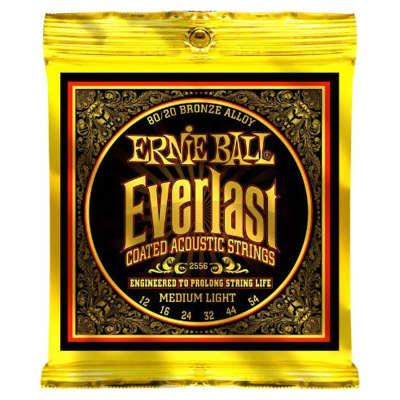 Ernie Ball 2556 Coated Everlast 80/20 Bronze Medium Light