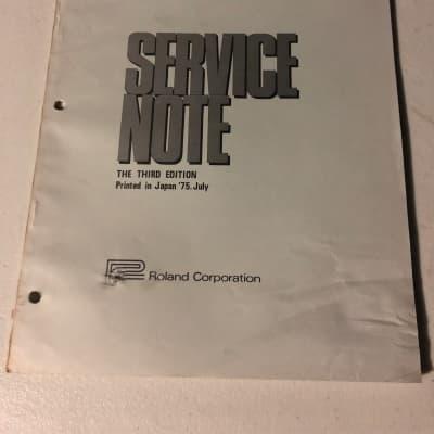 Roland  EP-30 Roland Piano Service Notes 1975