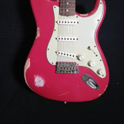 Fender 60 stratocaster relic  2013 faded dakota red for sale