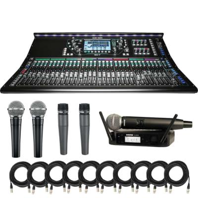 ALLEN & HEATH SQ-7 DIGITAL MIXER + (2) Shure SM58-LC Vocal Microphone + (2) Shure SM57-LC Microphone