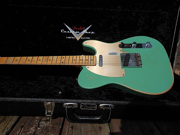 fender custom shop limited edition 59 telecaster heavy relic celadon green 4 way switch