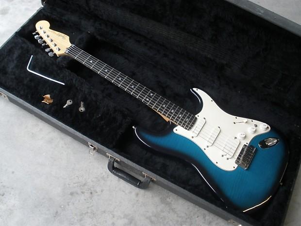 1991 Fender Usa Strat Plus Ultra Rare Blueburst Flame