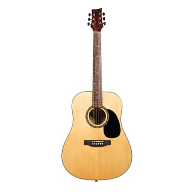 Beaver Creek 101 Series Acoustic Electric Guitar Natural  w/Gig Bag BCTD101CE for sale